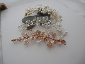 Bridal hair accessories www.silver-stonejewellery.co.uk