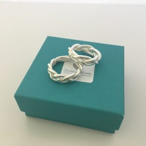 Silver Plaited Rings www.silver-stonejewellery.co.uk