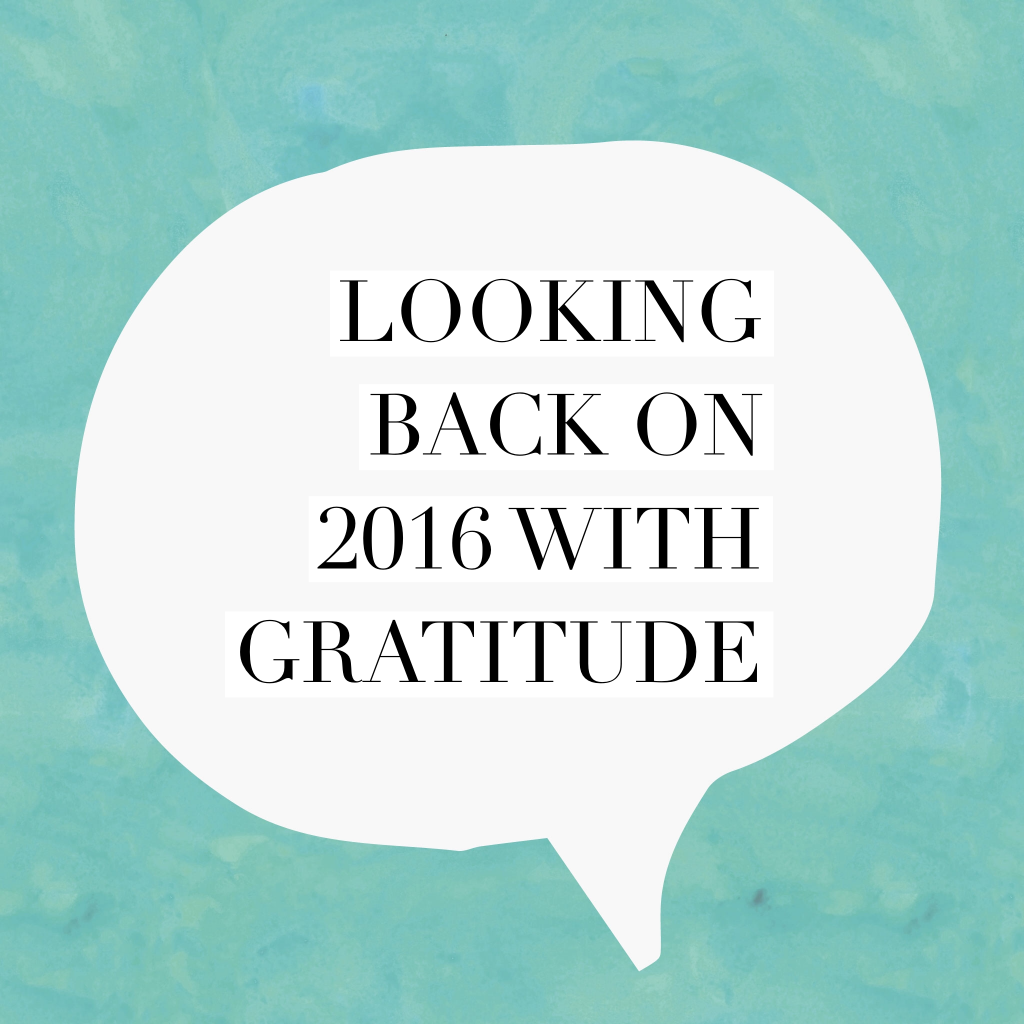 Blog Looking back on 2016 with gratitude