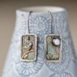 bird and moon earrings by Helen Drye
