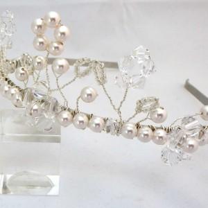 Silver and Stone Sophia tiara 1