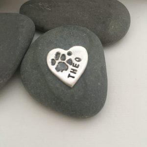 Pet paw print - silver keepsakes