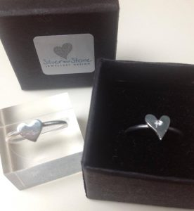 silver stacker rings - silver and stone jewellery