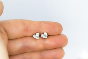 Little Heart Stud Earrings by Helen Drye