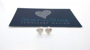 little heart earrings by Helen Drye