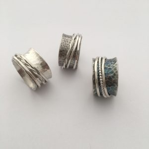 Fidget rings - Silver and stone jewellery
