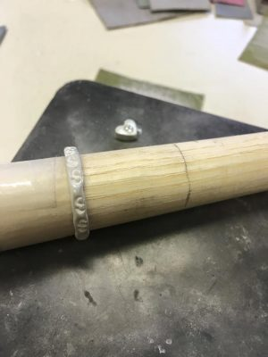 making-a-silver-clay-ring
