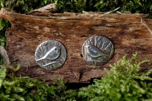 Woodland Bird Stud Earrings by Helen Drye