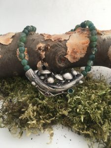 Skipwith Mushrooms Necklace by HelenDrye