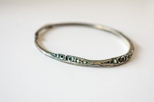 Woodland bangle by silver and stone