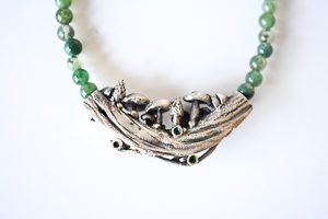 Woodland Mushrooms collection Skipwith Mushrooms Necklace by Helen Drye