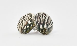 Woodland Mushroom stud earrings by Helen Drye