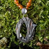 Woodland Tree Scene Necklace by Helen Drye