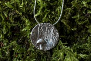 Woodland Mushrooms - Mushroom Necklace by Helen Drye