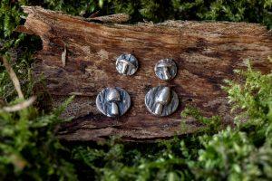 Mushroom Earrings by Helen Drye