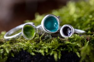 Woodland Pod Rings by Helen Drye