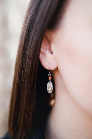 Woodland bird drop earrings by Helen Drye - amber hannah