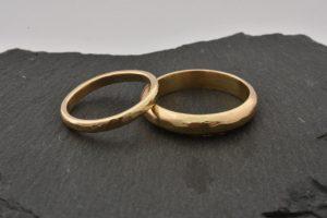 Handmade wedding rings at Silver and Stone