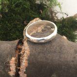Simple silver rings by Helen Drye