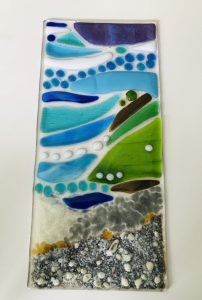 glass panel Silver and Stone