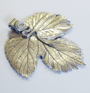 Silver clay leaf project