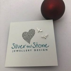 bee studs by silver and stone
