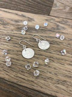 Full moon earrings by Helen Drye