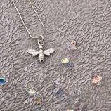 Silver Bee necklace by Helen Drye