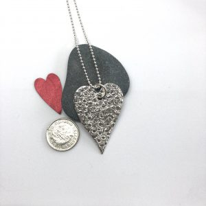 Valentines heart necklace by Helen Drye