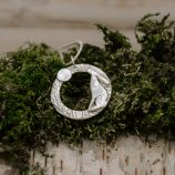 Moon Gazing Hare Necklace by Helen Drye