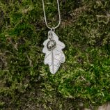 Oak Leaf Necklace by Helen Drye