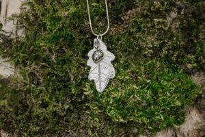 Oak Leaf Necklace by Helen Drye