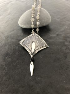 Art Deco Necklace by Helen Drye Silver and Stone Jewellery