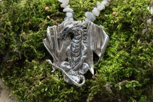Silver Dragon Necklace by Helen Drye